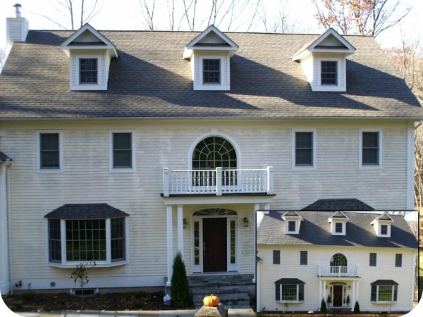 Safely cleaning the roof residential home in New Hampshire
