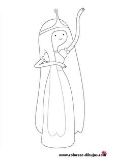 Dibujos Para Colorear De Hora De Aventuras Princesa Chicle