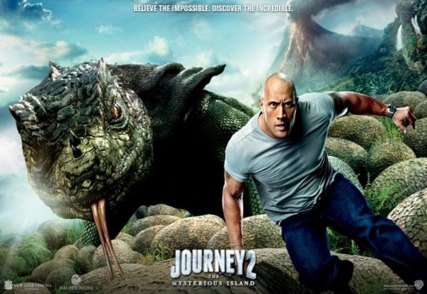 Journey 2 - Hank runs away from giant lizard