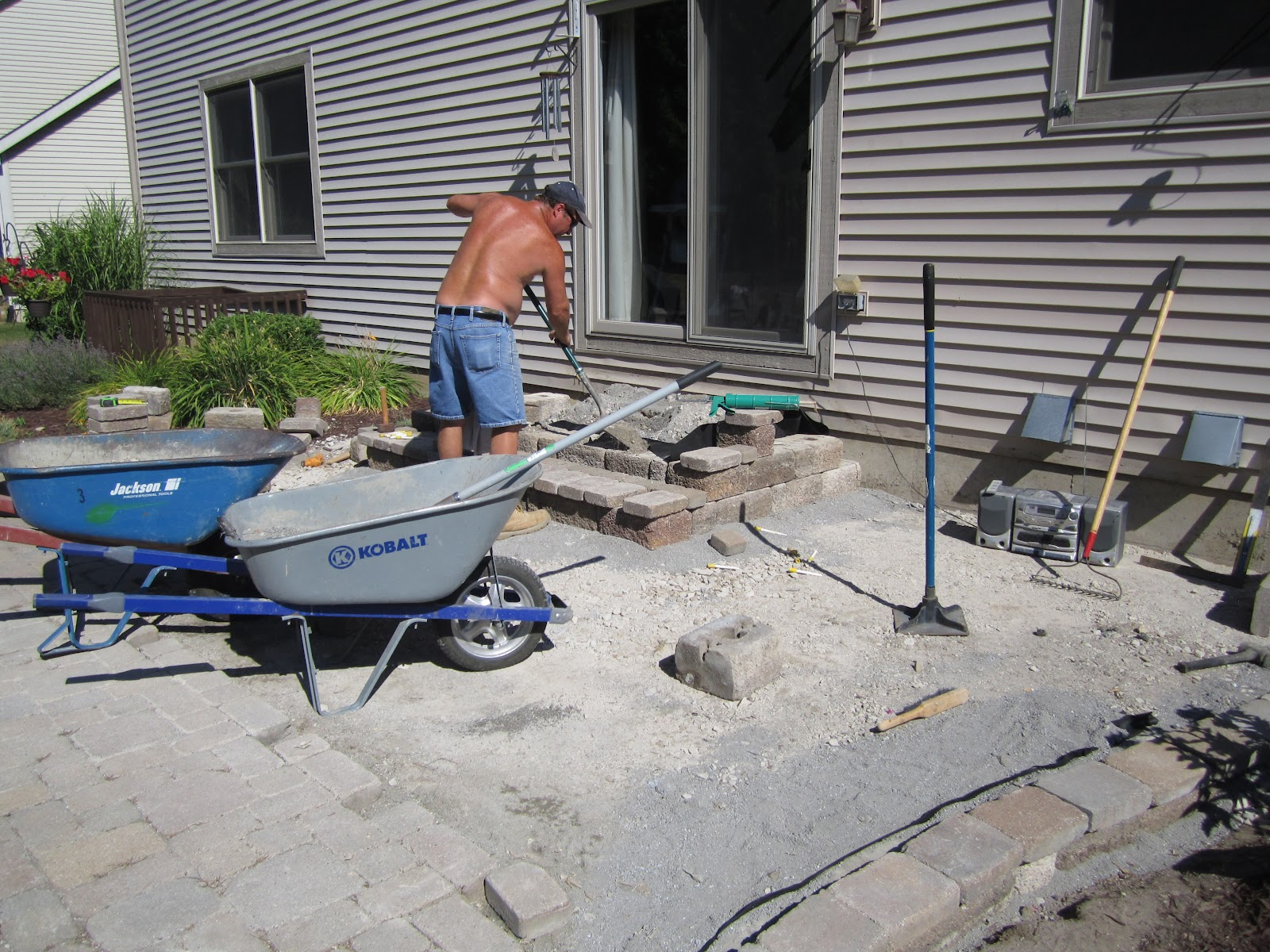 How To Make Paver Patio   Insured by Laura