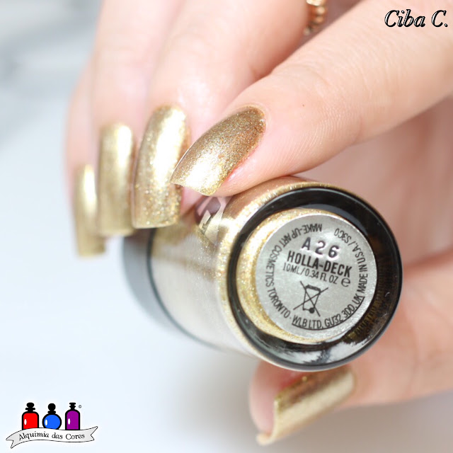 Born Pretty, Cebella, dourado, Gold, Holla-Deck, MAC, Star-Trek, Alquimia das Cores,