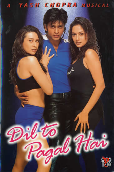 Poster Of Bollywood Movie Dil To Pagal Hai (1997) 300MB Compressed Small Size Pc Movie Free Download worldfree4u.com