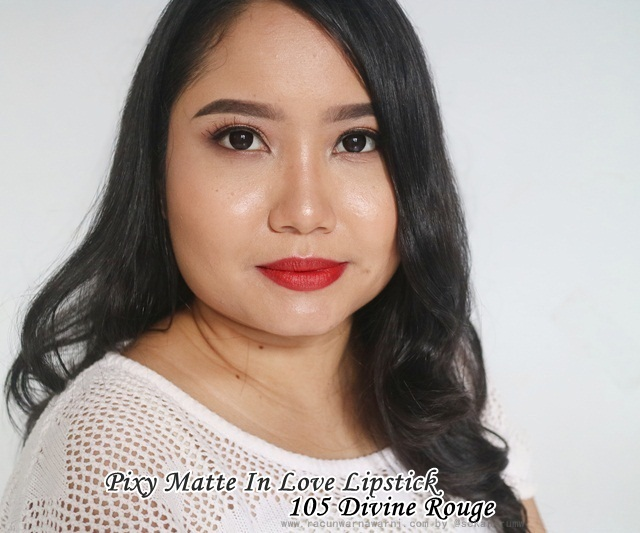FOTD Pixy Matte In Love Lipstick 105 Divine Rouge