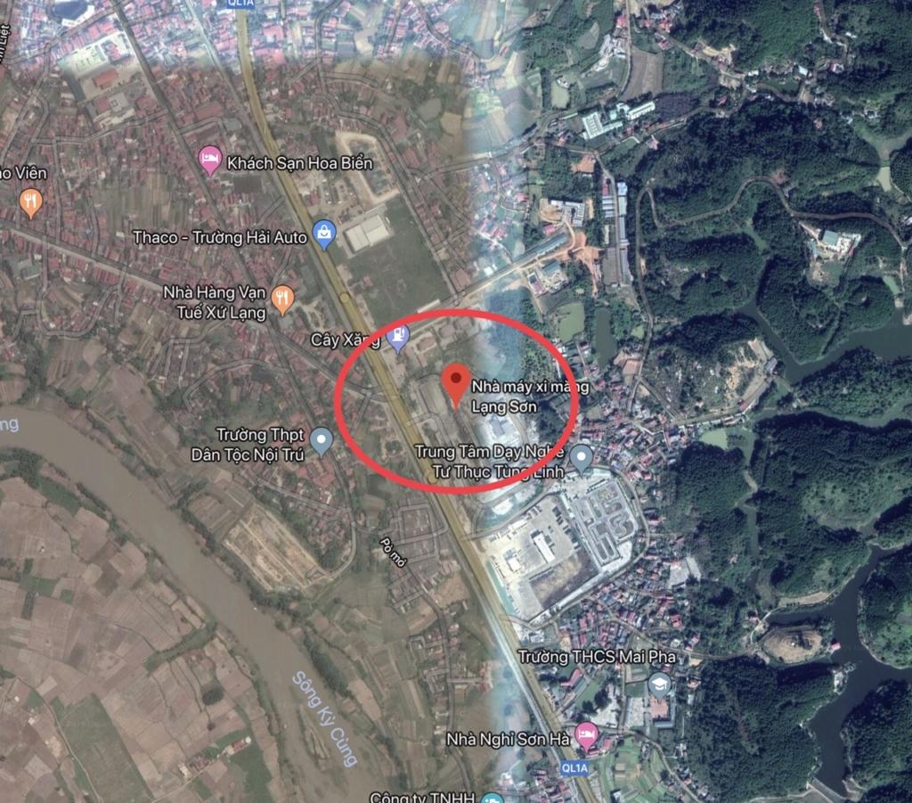 Vị trí dự án Apec Lạng Sơn qua Google Map