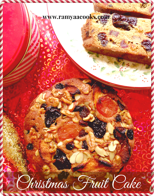 ramya cooks: Christmas Fruit Cake - Indian Bakery Style Plum Cake without alcohol