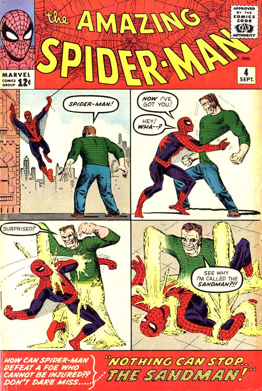 Amazing Spider-man #4 - Steve Ditko art & cover + 1st Sandman (key) - Pencil Ink