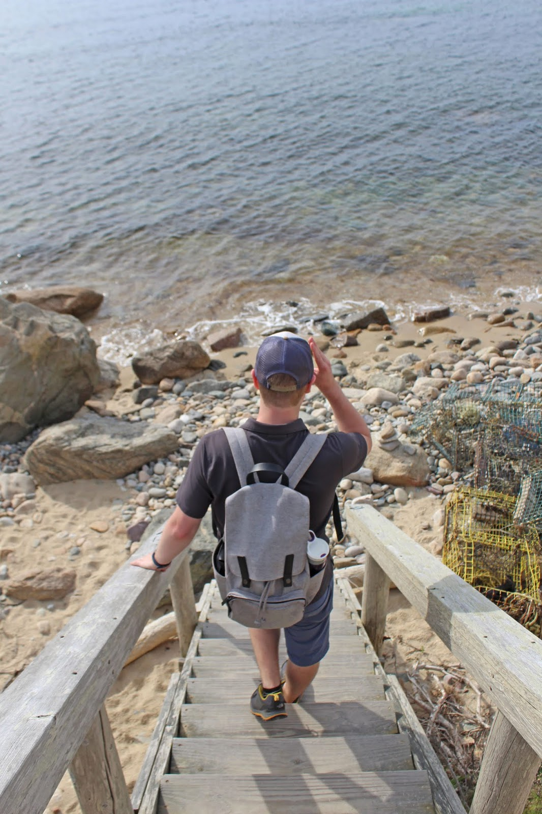 hiking to a secluded beach 6