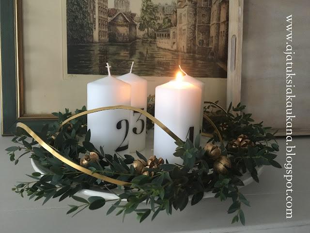 adventtisunnuntai, adventti, kynttilät, joulu, kranssi