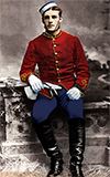 Frederick Augustus Bagley, colorized by Brenda Wilbee, great-granddaughter
