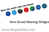Add New Social Sharing Widget Below Every Post In Blogger