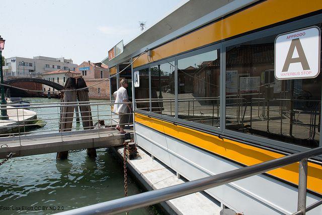 Zastávka vodního autobusu v Benátkách