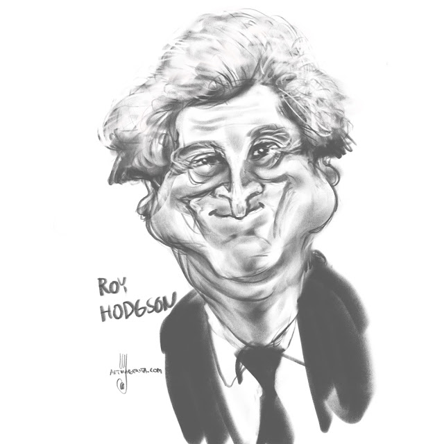 Roy Hodgson caricature by Artmagenta
