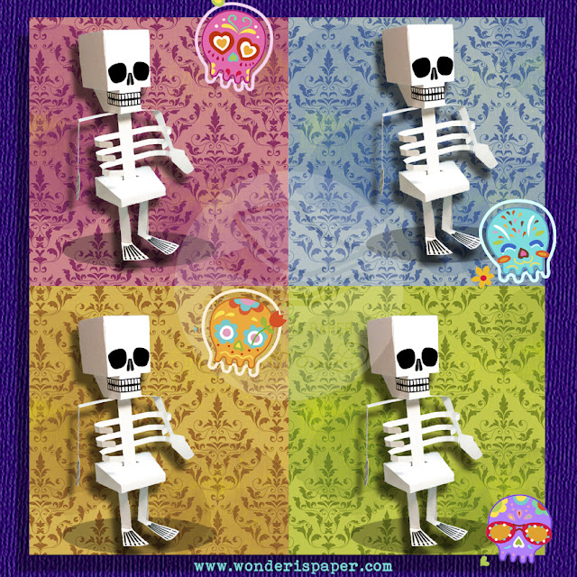 Paper toy: Esqueleto + Video
