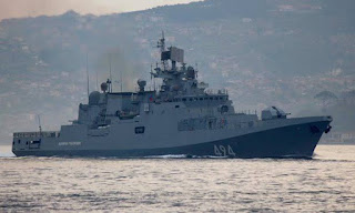 Russia sends warship to battlegroup off Syrian coast