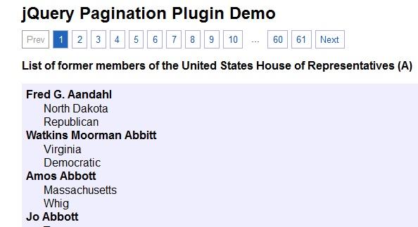 9 jQuery Pagination Plugins Example Tutorials - ASP NET,C# NET,VB