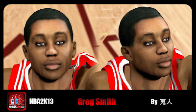 NBA 2K13 Greg Smith Cyberface Patch