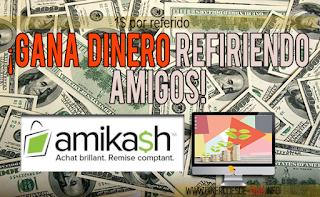 Amikash: gana dinero por internet invitando personas!