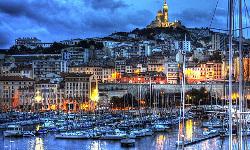 Vistas del puerto de Marsella