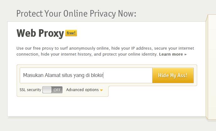 cara buka situs yang diblokir dengan Webproxy