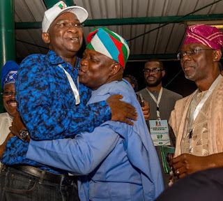 Photo Fashola Ambode and Sanwo-olu