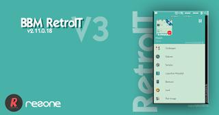 Free Download BBM Mod RetroIT V3 Versi 2.11.0.18 Apk Terbaru