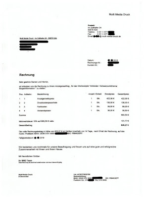 Scan: Rechnung Multi-Media-Druck