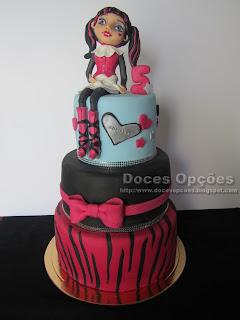 bolo Monster High festa bragança doces opções