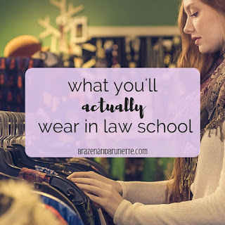Hey heads up, people DON'T dress business casual in law school. But you will need to upgrade form an undergraduate wardrobe to a law school wardrobe. Here's how to get a new closet without spending too much. law school outfits. law school wardrobe. what to wear to law school. law school class outfit. | brazenandbrunette.com