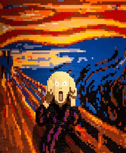 El grito de Munch - Versión Lego
