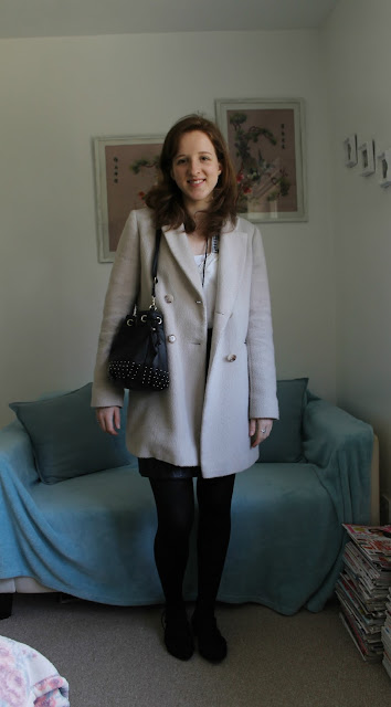 OOTD, Outfit Of The Day, Outfit, Zara, Peasant Blouse, Leather Skirt, Warehouse, H&M, Primark, Fashion, Blogger
