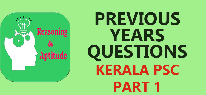 PSC Previous Years Aptitude and Reasoning Questions