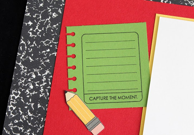capture the moment, school days, pencil, paper, scrapbook ideas