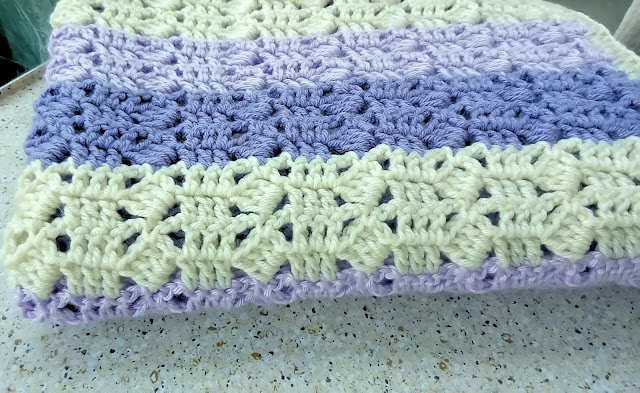Lavendar Bliss Crochet Blanket with Pattern