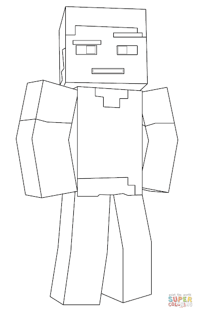 Click The Minecraft Steve Coloring Pages To View Printable Version Or Color  It Online Patible With Ipad And Android Tablets