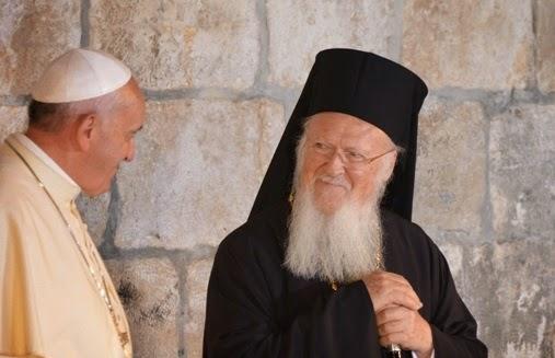 Ευχές για περισσότερους καρπούς Ορθοδόξων – Ρωμαιοκαθολικών αντάλλαξαν Βαρθολομαίος – Πάπας Φραγκίσκος