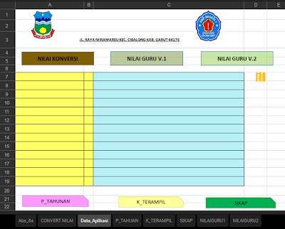 Aplikasi Pengolahan Nilai Kurikulum 2013 Tingkat SMP