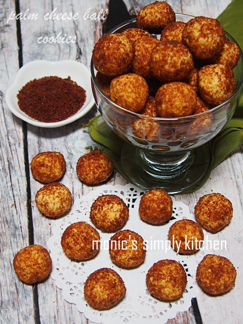 resep palm cheese ball cookies
