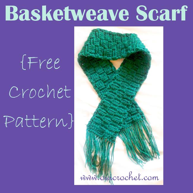 Crochet, Crochet Basket Weave Scarf, Crochet Basket Weave Scarf Pattern, Crochet Basket Weave Stitch, Crochet Scarf, Free Crochet Pattern,