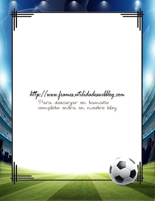marcos para poner fotos de fútbol