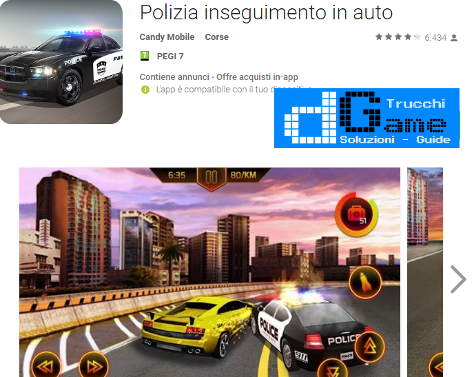 Trucchi Police Car Chase  Mod Apk Android v1.0.1