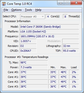 PROGRAMMA PER VEDERE LE TEMPERATURE INTERNE DEL PC