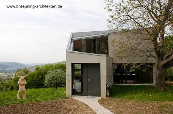 Residencia de concreto moderna en Esslingen Alemania año 2008