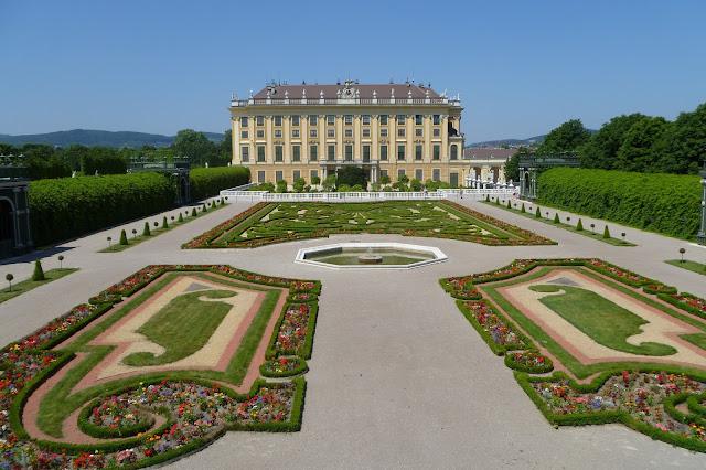 Ogród następny tronu w Schonbrunn