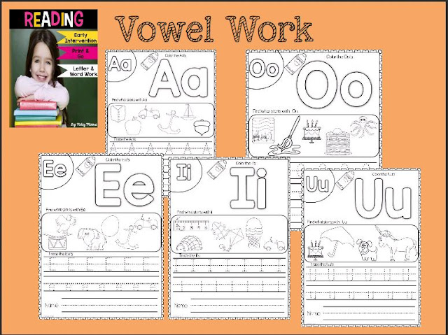 vowel word work