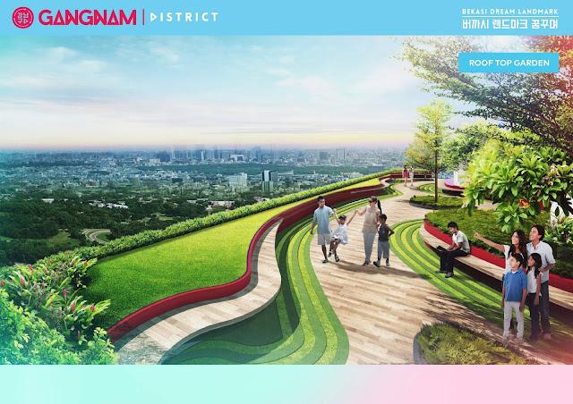 jogging track at rooftop gangnam district bekasi