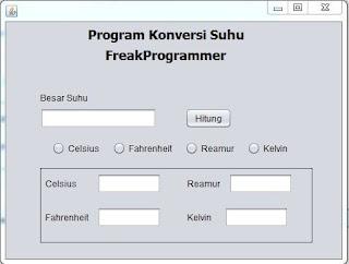 Contoh Program Menghitung Suhu Java Netbeans