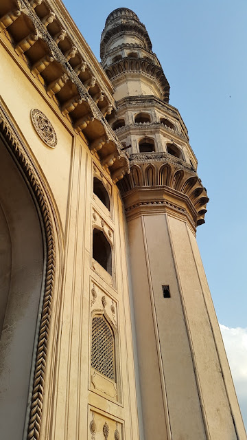 Stucco work at Charminar - 16th century Indo Islamic construction - Hyderabad Indai