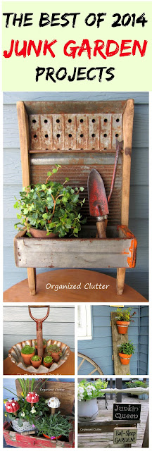 5 Junk Garden Projects www.organizedclutter.net