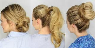 Apply an elegant looking hairdo