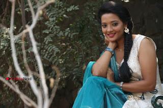 Tamil Actress Koushika Stills in White Salwar Kameez at Inayathalam Tamil Movie Audio Launch  0014.jpg